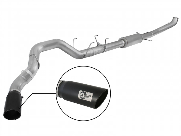 "Large Bore-HD 5"" 409 Stainless Steel Turbo-Back Exhaust System I Ram 2013-2018 6.7L Turbo Diesel 49-42047-1B"