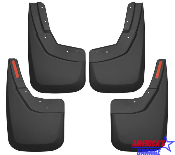 Chevrolet Silverado 1500/2500 2015-2019 Front And Rear Mud Guard Set Husky Liners 56886