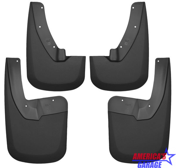 Ram 1500, 2500 2011-2019 with OEM Flares Front And Rear Mud Guard Set Husky Liners 58186