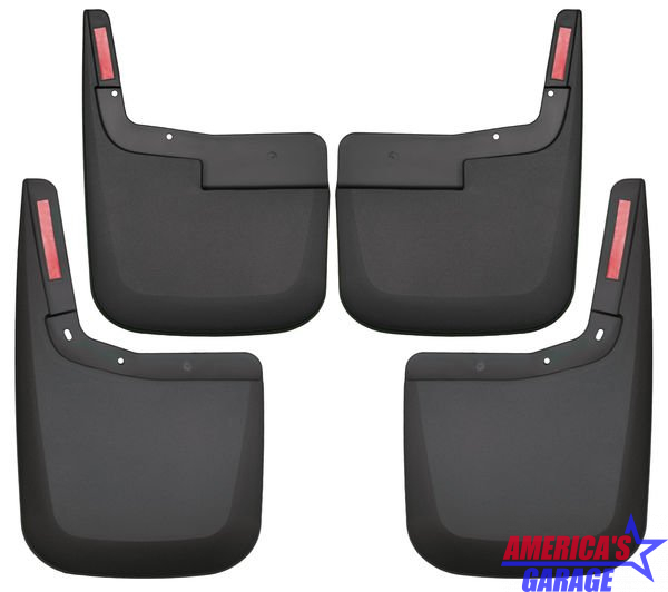 Ford F-150 2015-2019 Without Factory Flares Front And Rear Mud Guard Set Husky Liners 58446