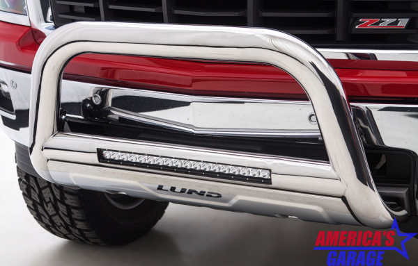 Ram 1500 2009-2019 Polished Stainless Nudge Bar LUND Chrome 47021204