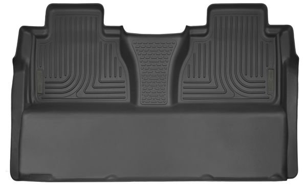 Husky Liners X-Act Contour 2nd Seat Floor Liners I Toyota Tundra Crew Max l 2014-2019 Black Rubber 53841