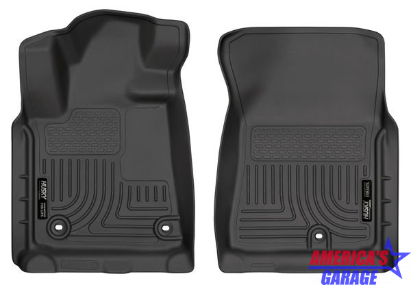 Toyota Tundra 2012-2019 Front Floor Mats Husky Liners Black Rubber 18561