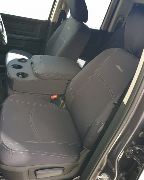 Wetseat Neoprene Grey Seat Covers Ram 1500 Express Front with locked middle seat F-T-GC-DO-04NP