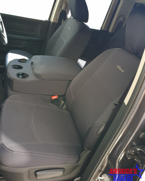 Ram 1500 Express with locked middle seat Wetseat Grey Seat Covers (Front) The Wetseat F-T-GC-DO-04NP