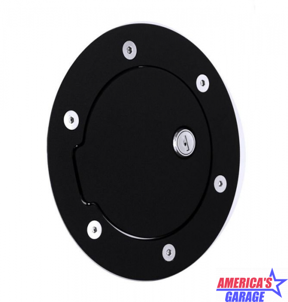 Ram 1500, 2500, 3500 2013-2019 Racing Style Gloss Black Locking Fuel Door AMI ASM-6047GKL