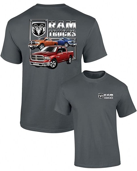 Mens Ram Trucks Graphic T-Shirt - Grey XXXLarge S/M/L B076H37PL2-XXXL