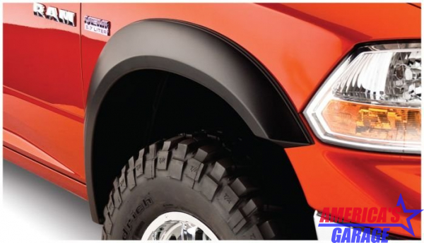 Ram 1500 2009-2019 Black Smooth Fender Flare Set Bushwacker 50914-02