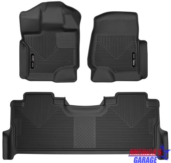 Ford F250-350 Super Duty 2017-2020 Front and Rear Floor Mats Husky Liners 53388