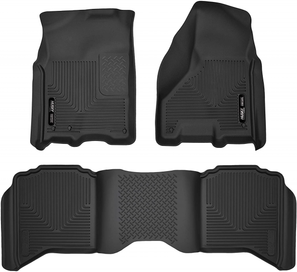 Husky Front and Rear Floor Liners Ram 1500-2500-3500 Laramie and Sport 2011-2018 53608