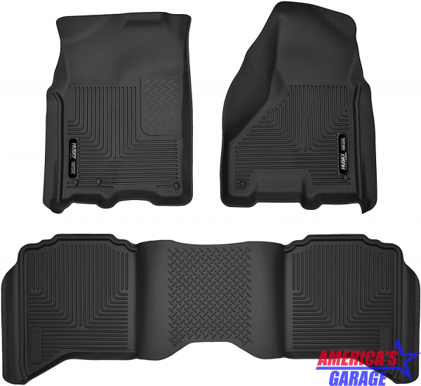 Ram 1500-2500-3500 Laramie and Sport 2011-2018 Husky Front and Rear Floor Liners 53608