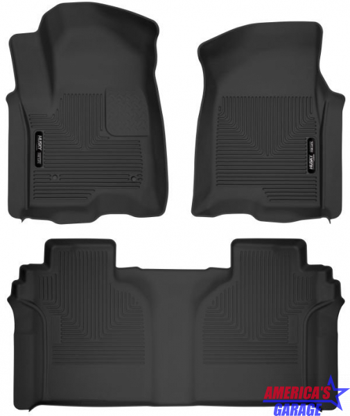 Chevrolet 1500 2020 X-Act Contour Front and Rear Floor Liners Husky Liners 54208