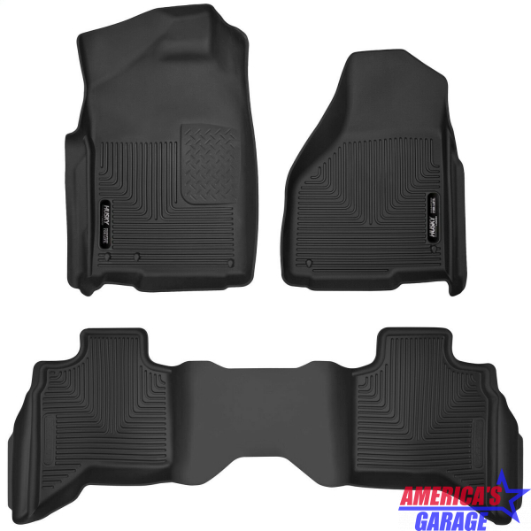 Ram Express (Quad Cab) 1500 2002-2019 X-Act Contour Front and Rear Floor Mats Husky Liners 53628