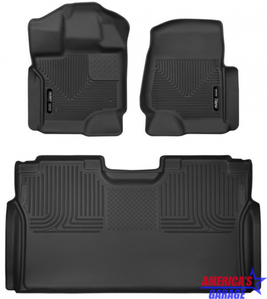 Ford F150 2015-2020 X-Act Contour Front and Rear Mats Husky Liners 53498